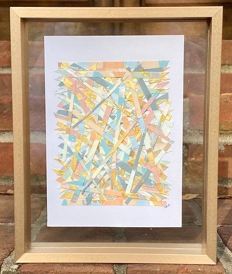 """Muted Haystack"", 5x7"", Framed"