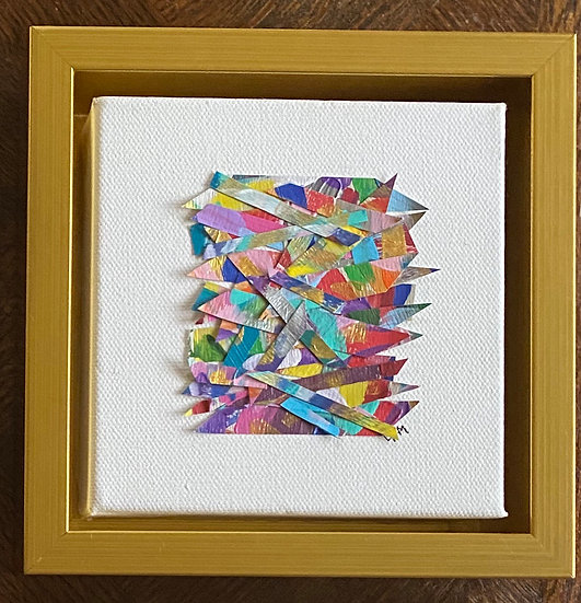 """Boxed Haystack II"" 7x7"", (custom framed)"