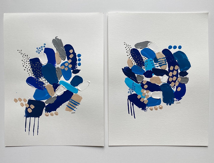 """Inkblot I"", 9x12"" (set of 2)"