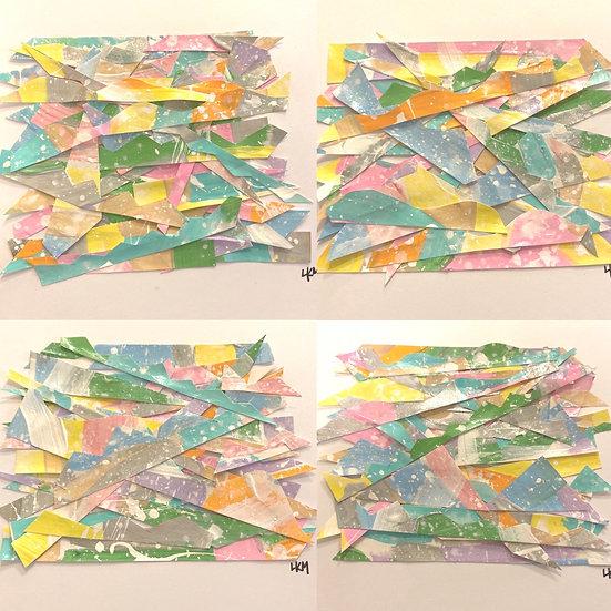 """""""Splattered Haytacks"""", 8x10"""", (set of 4)"""