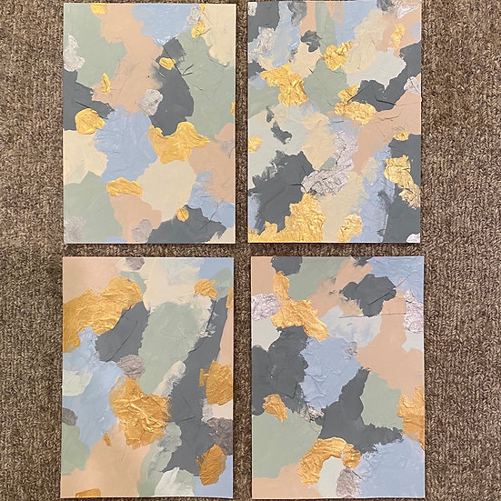 """Unclear"" minis, 5x7"", (set of 4)"