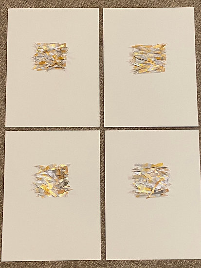 """Set of 4, mixed media on cardstock, 9x12"""""""