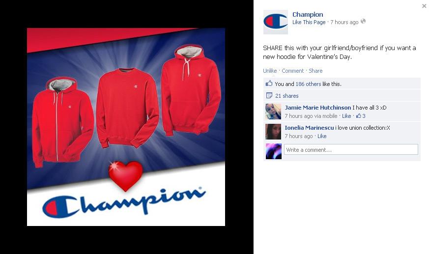 Champion Social Media post