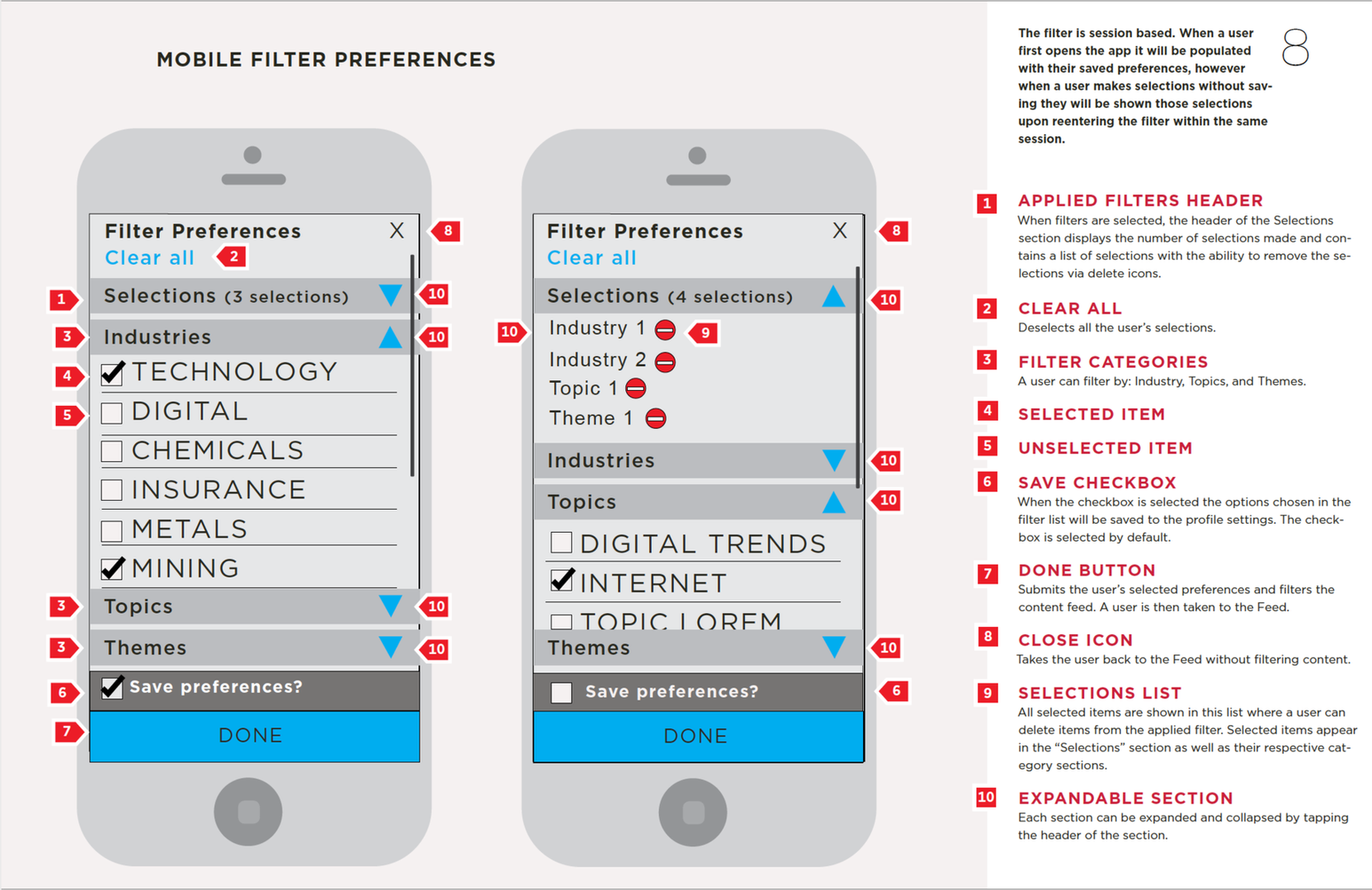 Filter Preferences
