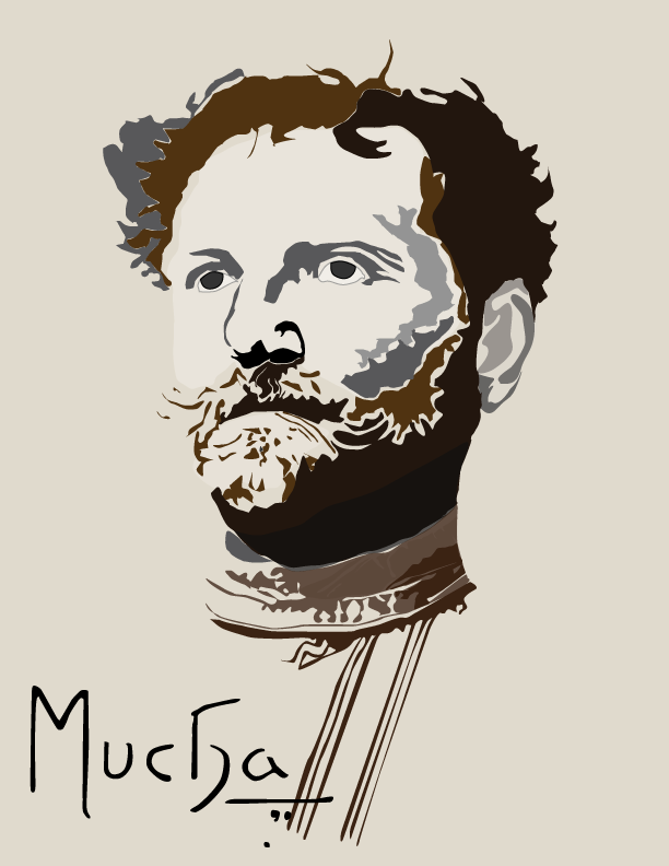 Mucha Digital Illustration