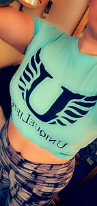 UL TEAL BLUE PERFORMANCE TEE