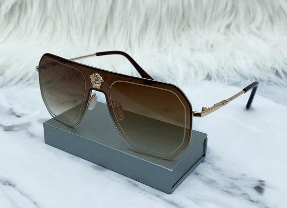 Charlotte Brown Oversized Sunglasses