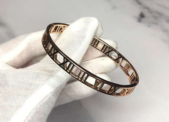 Rose Gold New Numeral Bangle