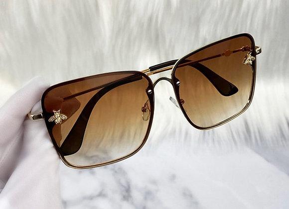 Square Brown Bug Sunglasses