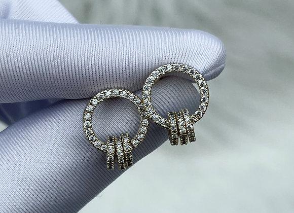 Tripe Ring Earrings