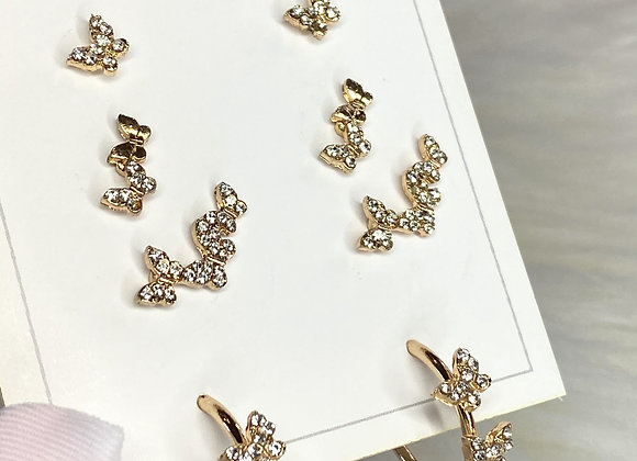 Gold Butterfly Stacking Set