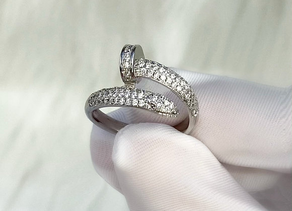 Silver Luxe Nail Ring