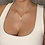 Thumbnail: Gold Multi Stone Pendant Necklace