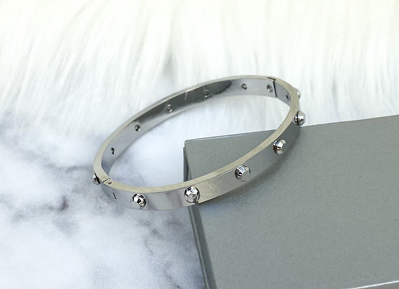 Industrial Silver Bangle