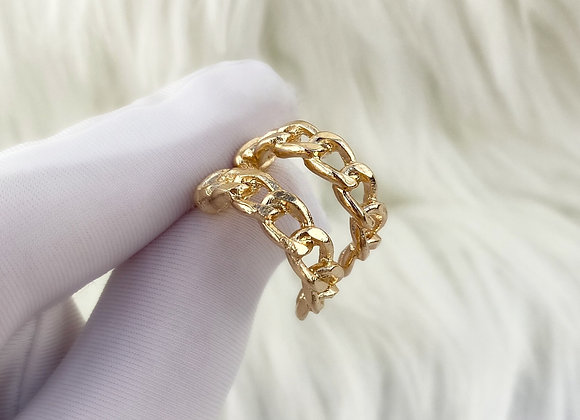 Gold Mini Chain Hoops