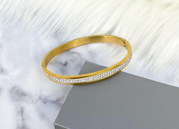 Gold Sparkle Bangle 5mm