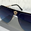 Thumbnail: Charlotte Navy Oversized Sunglasses