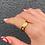 Thumbnail: Gold Diamante Ring 6mm