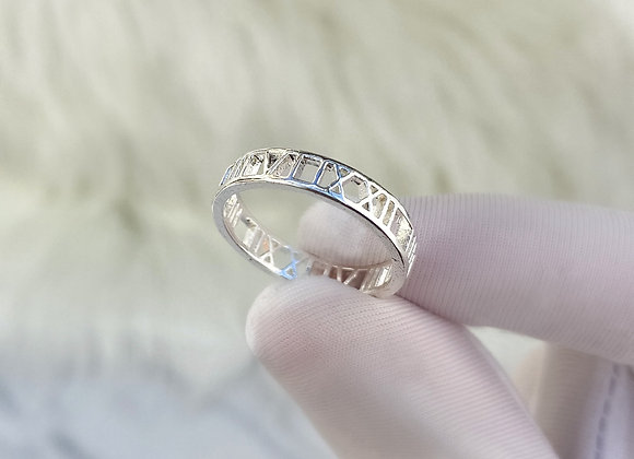 Silver Numeral Ring