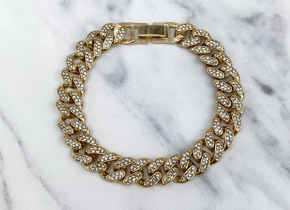 Cuban Chain Gold Stone Detail Anklet