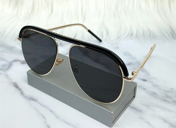 Adele Gold Aviator Sunglasses