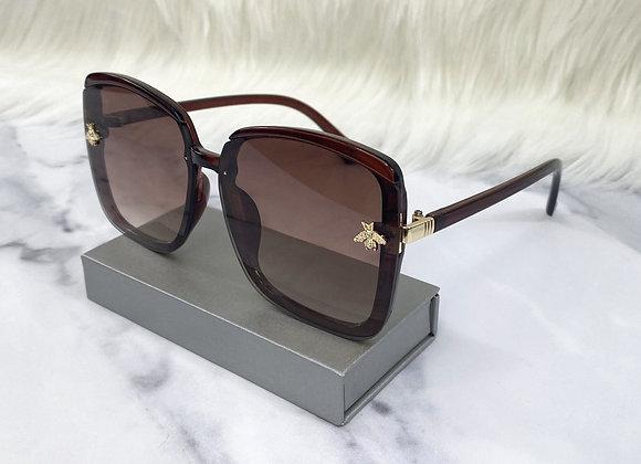 Oversized Brown Bug Sunglasses