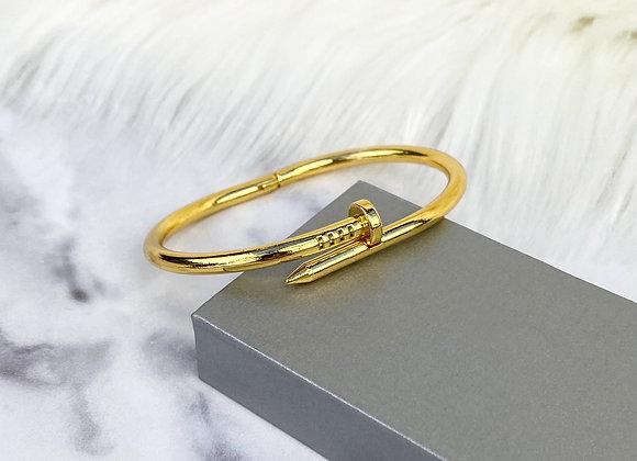 Gold Screw Bangle