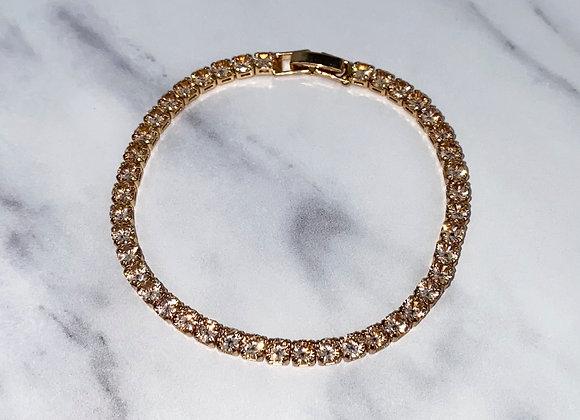 Sterling Silver Gold Tennis Bracelet