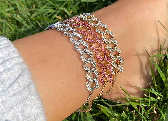 Pink Link Chain Anklet