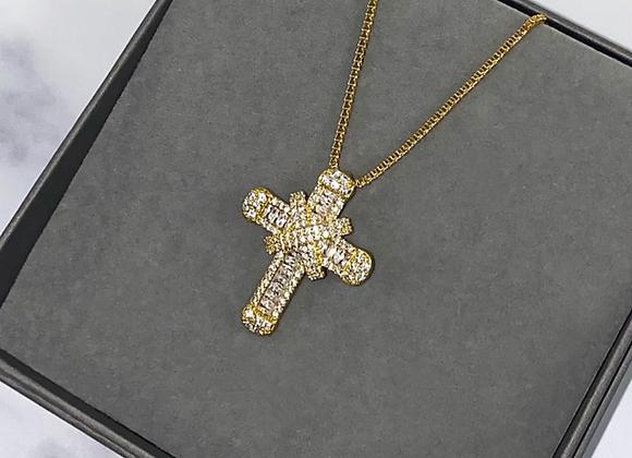 Shine Cross Box Chain Necklace