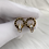 Thumbnail: Gold Numeral Earrings