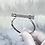 Thumbnail: Silver Plated Diamante Bar Bangle