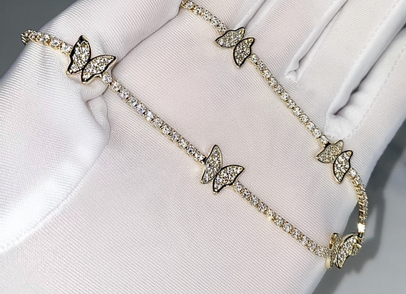 Butterfly Diamante Chocker