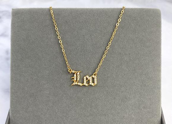 Zodiac Gold Stone Necklace