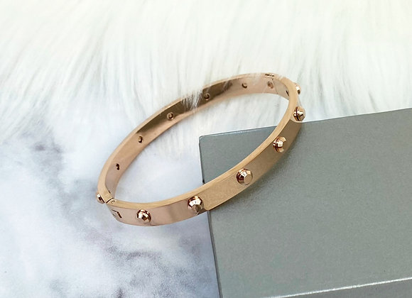 Industrial Rose Gold Bangle