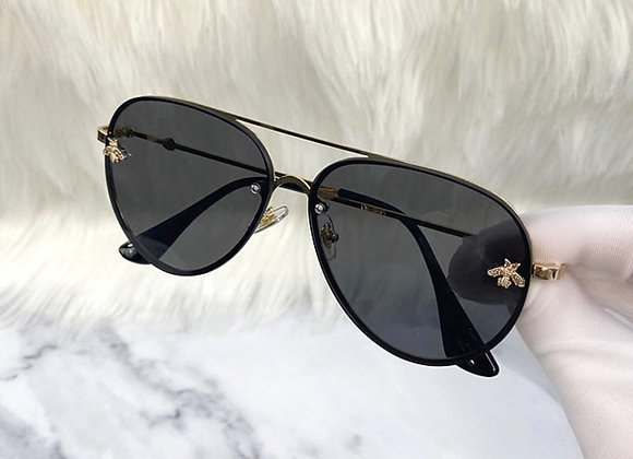 Black Aviator Bug Sunglasses