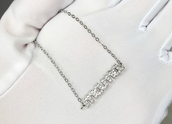 'Mama' Sterling Silver Necklace
