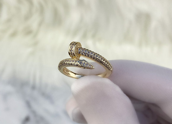 Yellow Gold Luxe Nail Ring