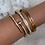 Thumbnail: Gold Numeral Bracelet 5mm