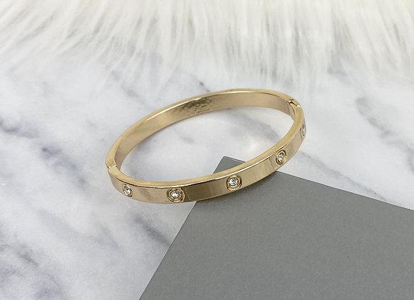 Gold Diamante Bangle