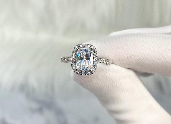 Large Square Diamante Ring