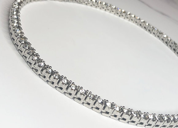 Tennis Chain Silver Necklace 4mm