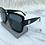 Thumbnail: Oversized Black F Sunglasses