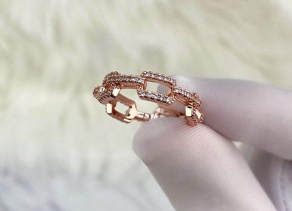 Rose Gold Link Ring