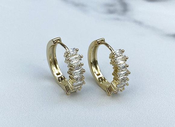 Jewel Stone Hoops