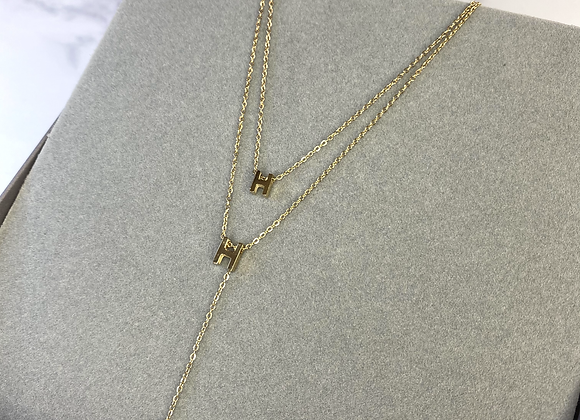 Double H Gold Necklace