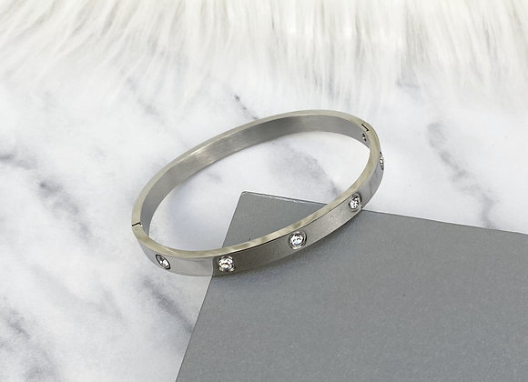 Silver Diamante Bracelet