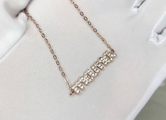 'Mama' Sterling Rose Gold Necklace