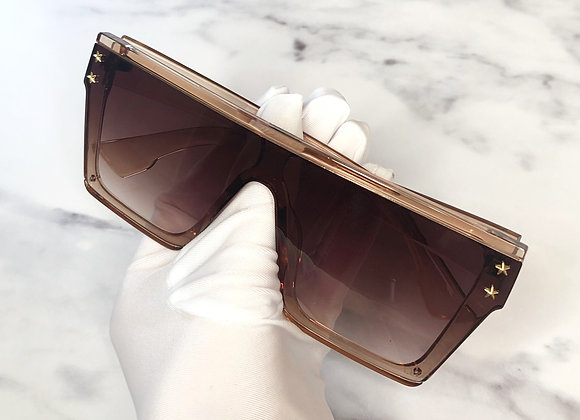 Kelsey Oversized Nude Sunglasses