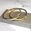 Thumbnail: Gold Nail Sparkle Bangle & Ring Set